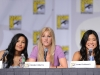 FOX FANFARE AT COMIC-CON 2010: (L-R) GLEE cast members  Naya Rivera, Brittany Morris and Jenna Ushkowitz during the GLEE panel session on Sunday, July 25, at the FOX FANFARE AT COMIC-CON 2010 in San Diego, CA.
