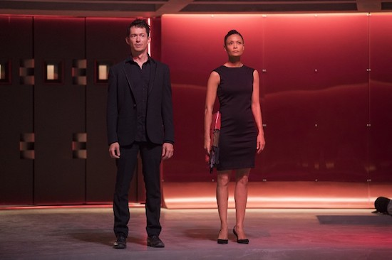 Simon Quarterman and Thandie Newton in Westworld Season 2
