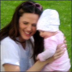 Jen Garner and Baby