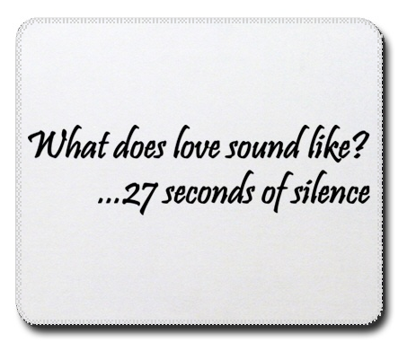 The Office,27 seconds of silence, mousepad