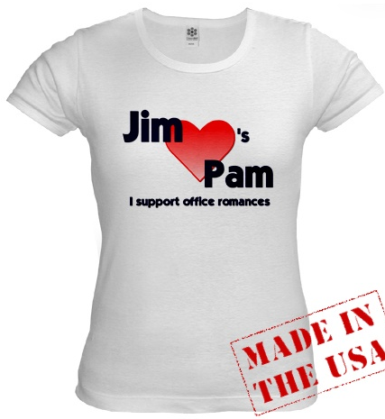 The Office, Jim loves Pam t-shirt