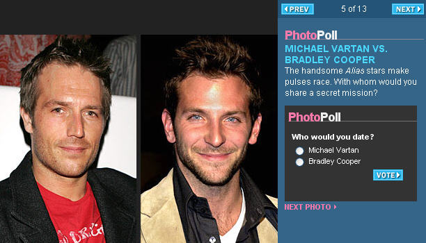 MIchael Vartna and Bradley Cooper