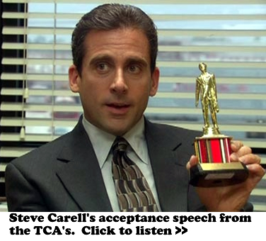 Steve Carell, The Office, Acceptance Speech TCA's