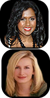 Mindy Kaling and Angela Kinsey, The Office