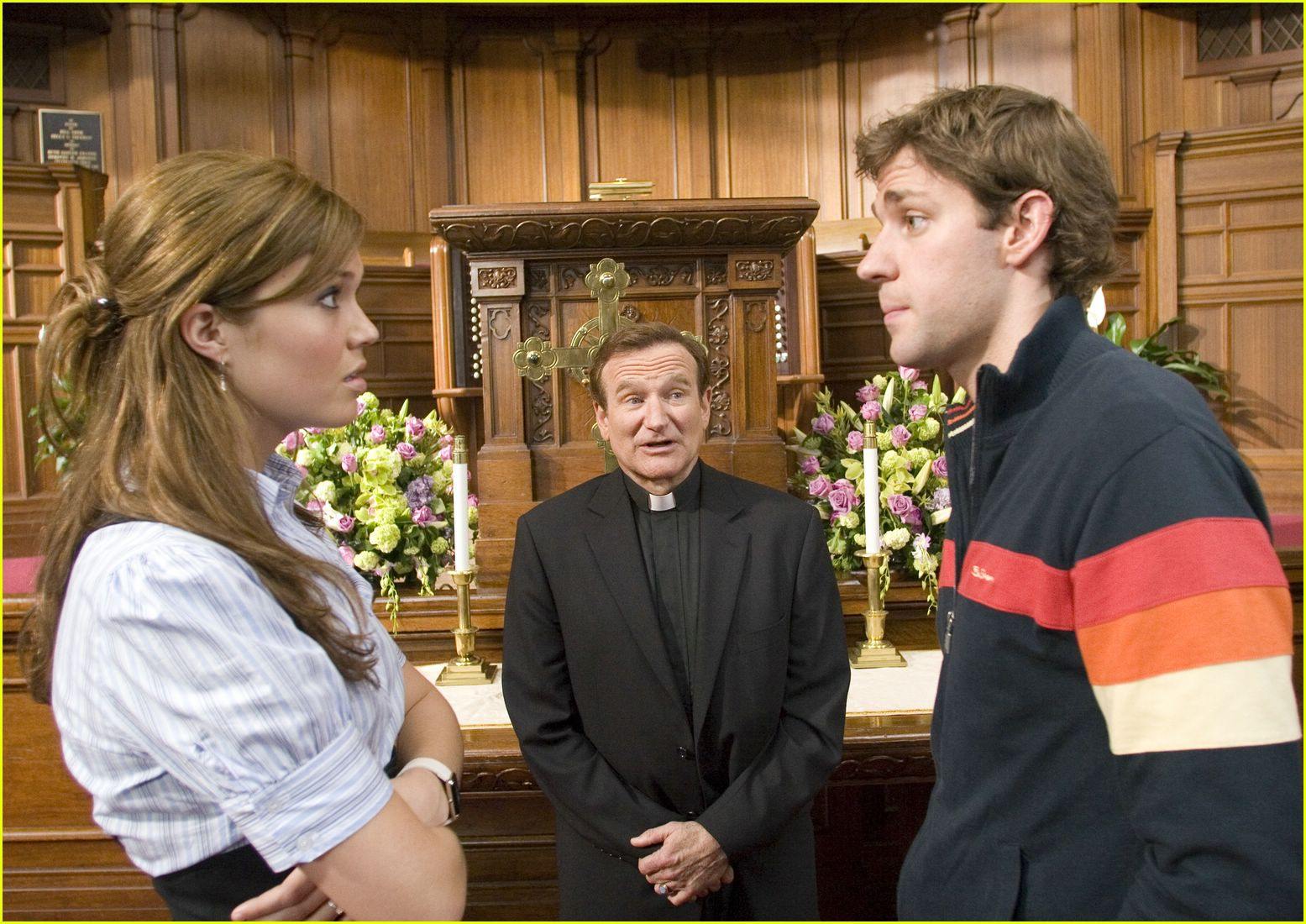 Mandy Moore, Robin Williams and John Krasinski in