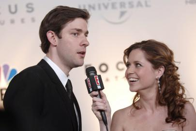 Jenna Fischer and John Krasinski on E!