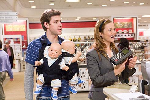"John Krasinski and Mandy Moore in ""License to Wed"""