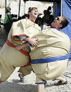 Beach Games: John Krasinski and Ed Helms