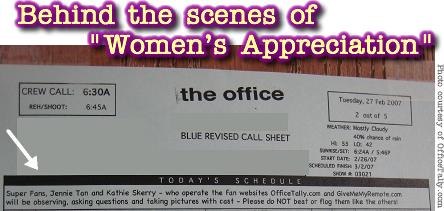 The Office, Women's Appreciation