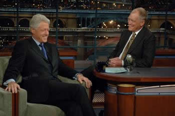 Bill Clinton to Visit with David Letterman