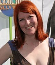 kate flannery shaved head