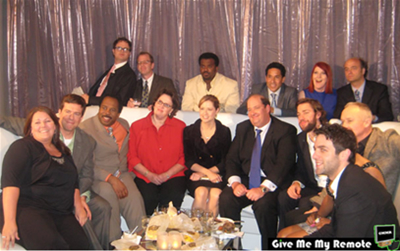 Me with the cast of THE OFFICE at the Upfronts 2008