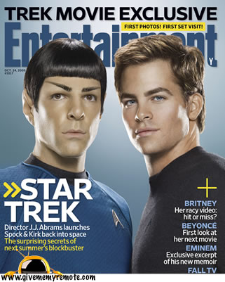 EW Star Trek Cover, Zachary Quinto and Chris Pine