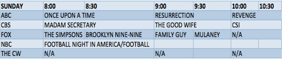 sunday-schedule