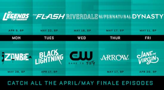 CW finale dates 2018