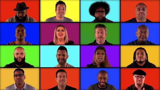 THE VOICE Coaches Perform a Mashup of Their Hits with The Roots