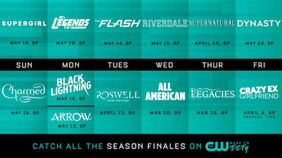The CW 2019 Finale Dates