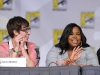 FOX FANFARE AT COMIC-CON 2010: (L-R) GLEE cast members  Kevin McHale and Amber Riley during the GLEE panel session on Sunday, July 25, at the FOX FANFARE AT COMIC-CON 2010 in San Diego, CA.
