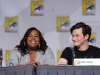 FOX FANFARE AT COMIC-CON 2010: (L-R) GLEE cast members Amber Riley and Chris Colfer during the GLEE panel session on Sunday, July 25, at the FOX FANFARE AT COMIC-CON 2010 in San Diego, CA.