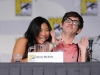 FOX FANFARE AT COMIC-CON 2010: (L-R) GLEE cast members  Jenna Ushkowitz and Kevin Riley during the GLEE panel session on Sunday, July 25, at the FOX FANFARE AT COMIC-CON 2010 in San Diego, CA.