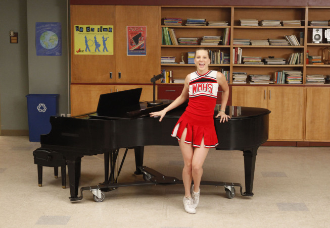 """GLEE: Brittany (Heather Morris) performs in the """"Dance With Somebody"""" episode of GLEE airing Tuesday, April 24 (8:00-9:00 PM ET/PT) on FOX. ©2012 Fox Broadcasting Co. Cr: Beth Dubber/FOX"""