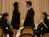 Battle of the bitches! Sebastian (Grant Gustin) and Santana (Naya Rivera) take on dueling cellos and each other for \'Smooth Criminal\'