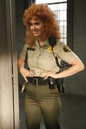 """RAISING HOPE: Katy Perry guest-stars as Rikki, a prison attendanct, in the """"Single White Female Role Model"""" episode of RAISING HOPE airing Tuesday, March 6 (9:30-10:00 PM ET/PT) on FOX. ©2012 Fox Broadcasting Co. Cr: Greg Gayne"""
