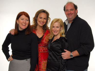 Angela Kinsey, Melora Hardin, Kate Flannery and Brian Baumgartner of The Office