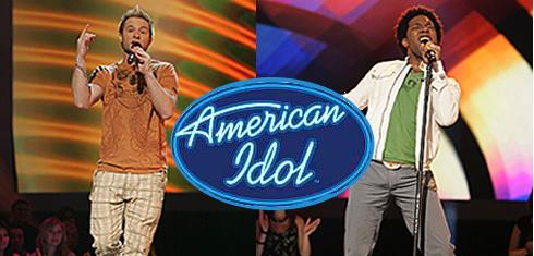 Blake Lewis and Brandon Rogers of American Idol