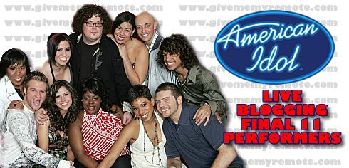 LIve Blogging American Idol