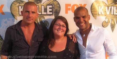 Dominic Purcell, Me and Amaury Nolasco, August 19, 2007