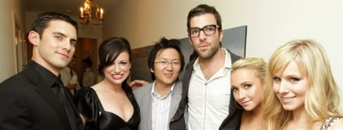 Kristen Bell and the cast of Heroes
