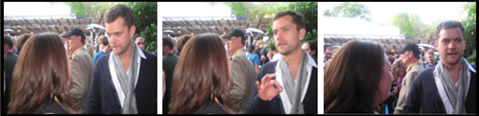 Meeting Joshua Jackson for the first time
