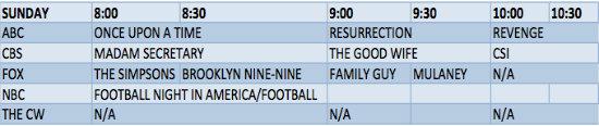 sunday-schedule