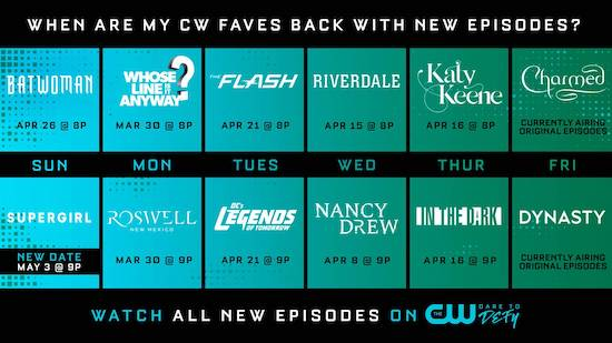 The CW April schedule