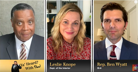 PArks and Rec reunion footage