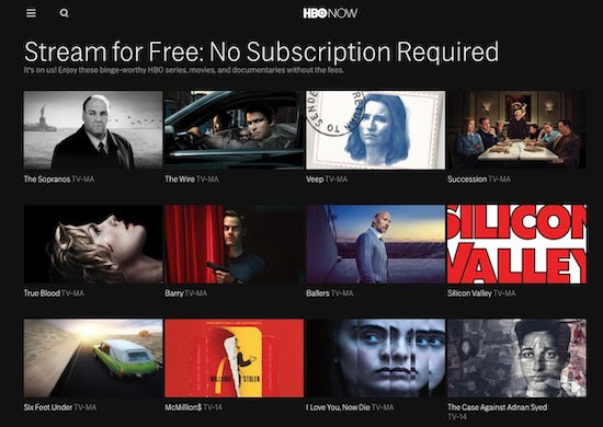 HBO Shows streaming free