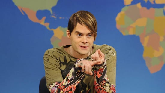 Bill Hader breaking SNL