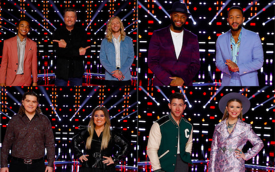 The Voice top 5